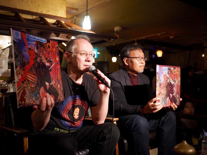 """image er5_2「バラカン・イヴニング13」のゲストは""""ディスクユニオンJazzTOKYO""""店長の生島昇さん(右)"""
