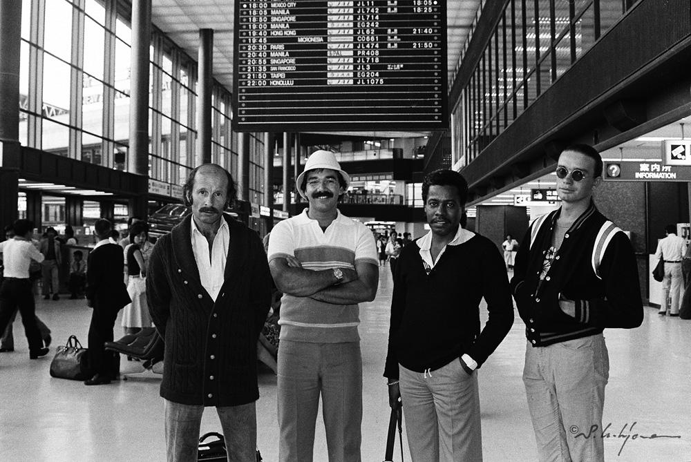 ジョー・ザヴィヌル、ピーター・アースキン、ウェイン・ショーター、ジャコ・パストリアス(左から) 写真:内山 繁
